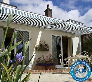 Details Sur Store Auvent Terrasse Manuel Protection Solaire Couleurs Variees Jardin Toile