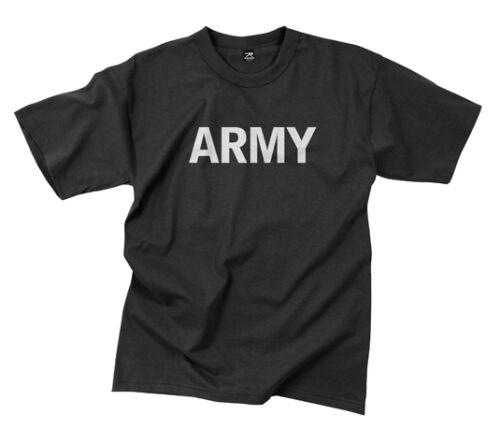 Rothco 7080 Black Military Physical Training /'/'army/'/' T-shirt S-3x