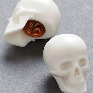 Cappucci per ruota bicicletta a forma di teschio - Skull Caps - Coppia