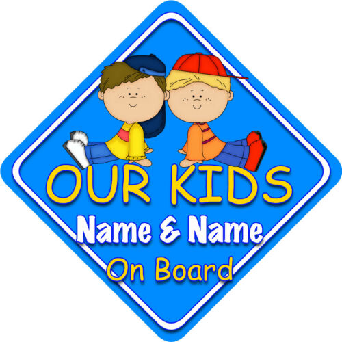 Our Kids Car Sign Like Baby//Child On Board Bright Blu