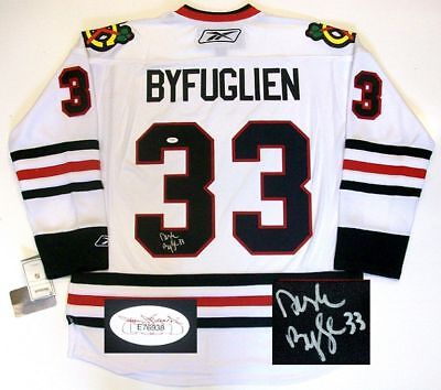 competitive price 3333a 24c55 DUSTIN BYFUGLIEN SIGNED CHICAGO BLACKHAWKS JERSEY JSA | eBay