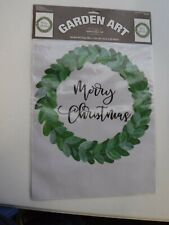 "NWT Magnolia Lane Flamingo Christmas Garden Flag Embroidered 13/""x18/"""