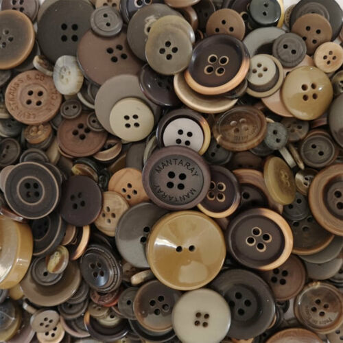 Botones Mezclados Colores Tamaños Surtidos 70g Acrílico Artesanía Coser Tejer Crochet