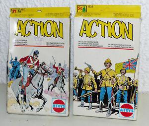 2x-A-Toys-ESCI-Action-1232-u-1217-Britische-u-franzoesische-Soldaten-1-72-OVP
