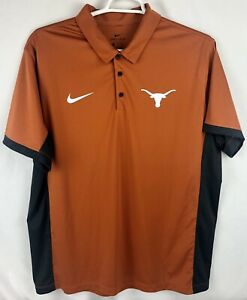 Texas-Longhorns-Nike-Dri-Fit-Polo-Burnt-Orange-Gray-EUC-XXL-2XL