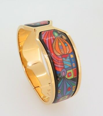 AUTH. FREY WILLE CONTESSA BANGLE Hommage a` Hundertwasser size S