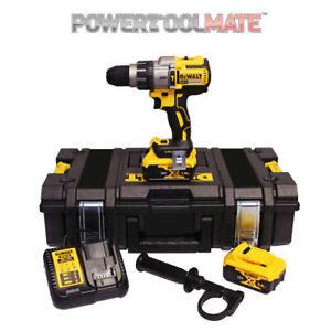 Dewalt-DCD996P2-18V-XR-3-Speed-Brushless-Hammer-Combi-Drill-with-2-x-5-0Ah-Batts