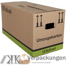 200 PROFI UMZUGSKARTONS MIDORI 2-WELLIG 630 x 285 x 305mm SEHR STABIL KARTON