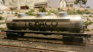 Athearn-Vintage-HO-BB-Texaco-Triple-Dome-Tank-Car-Upgraded-Exc