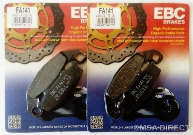 EBC Organic FRONT Brake Pads Fits KAWASAKI GPZ500S (E Models - 1994 to 2004)