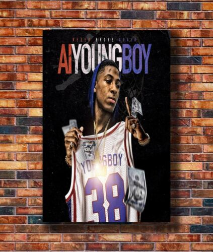 14x21 24x36 Art Gift X-2053 New AI Youngboy Never Broke Again Album Poster