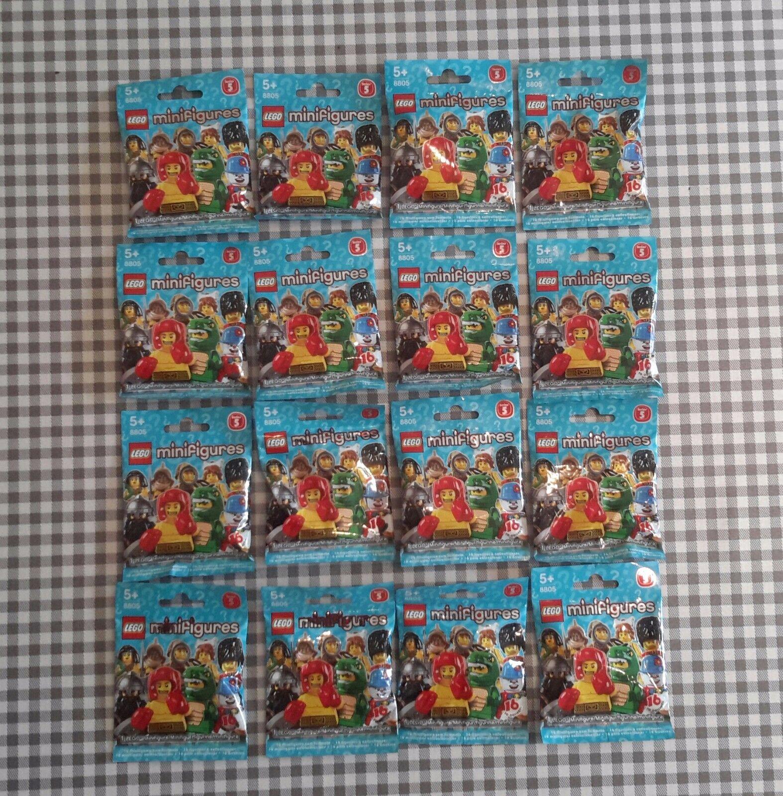 Lego minifigures series 5 (8805) série complète de 16 new factory sealed | Offre Spéciale
