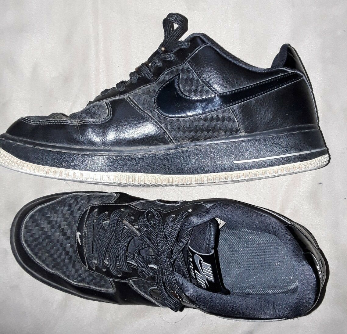 Nike air force force force Uomo basso top nero scarpe taglia 11 83d395