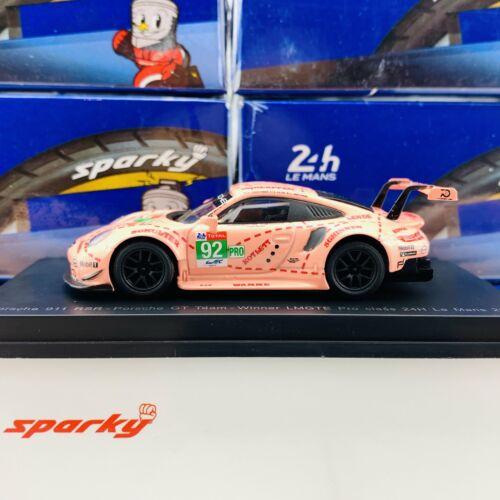 Sparky 1//64 PORSCHE 911 RSR NO.92 PORSCHE GT TEAM WINNER LMGTE PRO CLASS 24H LE