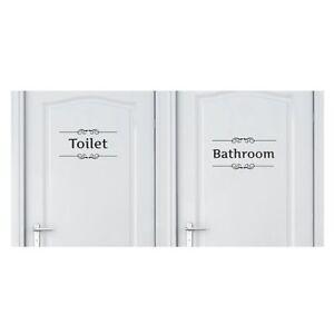English etichetta adesivo da parete toilette bagno decalcomania per porta ebay - Toilette da bagno ...