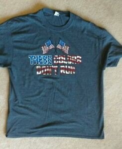 Men-039-s-Dark-Grey-T-Shirt-These-Colors-Don-039-t-Run-Sz-XL