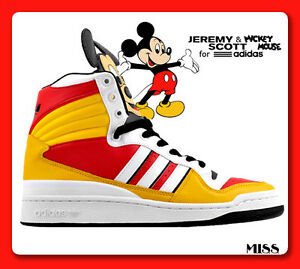 Image is loading ADIDAS-ORIGINALS-ObyO-JEREMY-SCOTT-Mickey-Mouse-Sneakers-