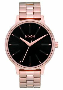 Nixon-Women-039-s-Kensington-A0991098-00-37mm-Black-Dial-Stainless-Steel-Watch