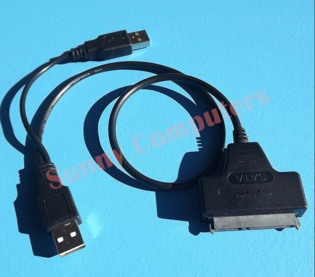 """SATA to USB 2.0 Adapter Cable for 2.5"""" Hard Drive HDD Laptop Data Recovery Power"""