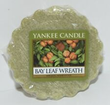 1 NEW YANKEE CANDLE BAY LEAF WREATH TARTS WAX MELTS CANDLE WARMER TART GREEN