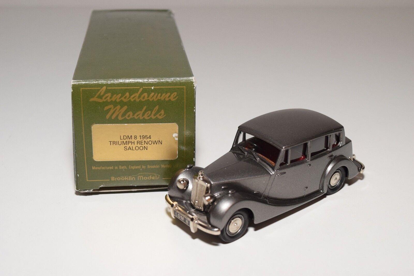 venta  @ LANSDOWNE LANSDOWNE LANSDOWNE MODELS LDM 8 1954 TRIUMPH RENOWN SALOON gris MINT BOXED  barato