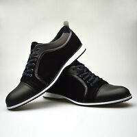 Mens Trainers Shoes Black Brown Smart Casual Lace Up Sneakers UK 6 7 8 9 10 11