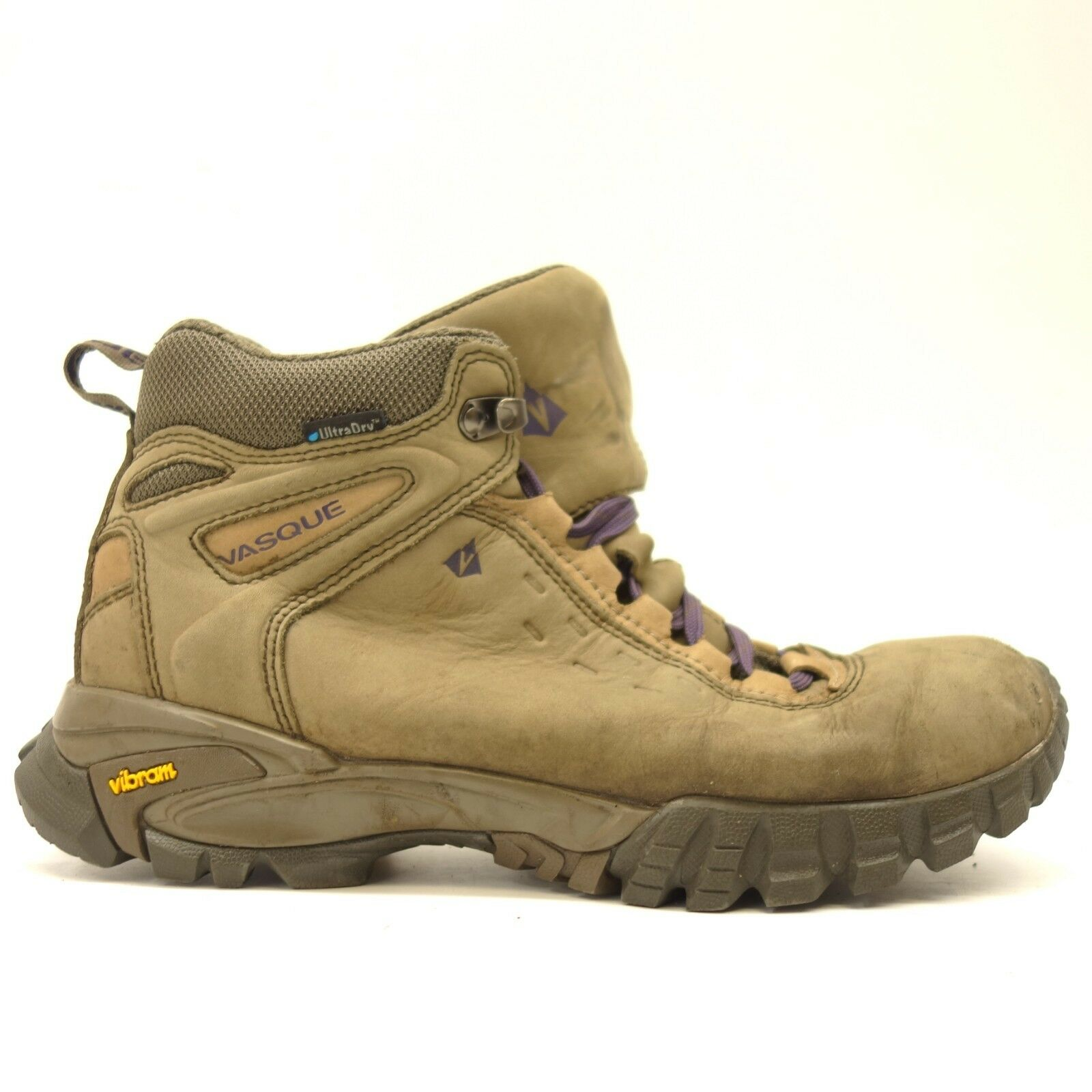 Vasque Womens Talus Trek Mid Mid Mid UltraDry Leather Athletic Support Hiking shoes 9.5 046d7c