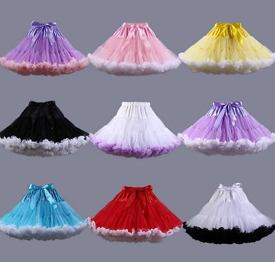 SchöN Damen Unterrock Kurz Petticoat Rockability Ballettrock Tutu Reifrock Karneval