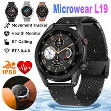 L19 Reloj inteligente IP68 Impermeable ECG PPG llamando a presión arterial para iOS Android
