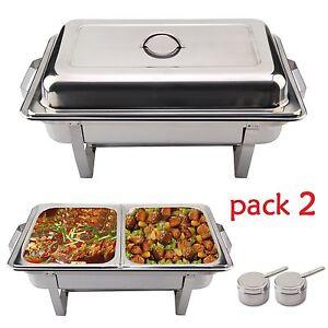 2x-Rechaud-Dish-9-litres-Chafing-Dish-Nourriture-Acier-Inoxydable-Warmhalte-Ace