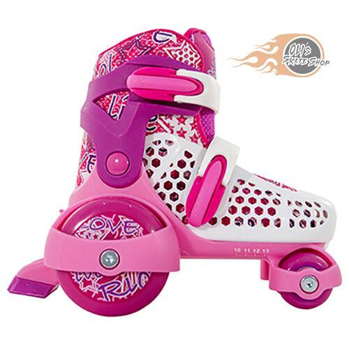 SFR Stomper Adjustable Quad  Roller Skates Girls Rosa - - Rosa Optional Safety Pads f643d8