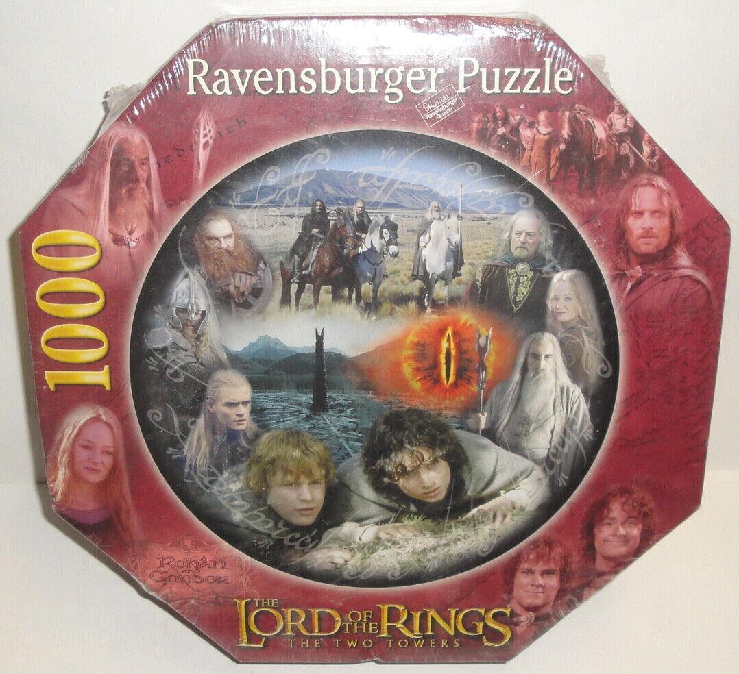 RAVENSBURGER JIGSAW PUZZLE  - LORD OF THE RINGS 1000 Pc The Two Towers 15 851 5  Spedizione gratuita per tutti gli ordini