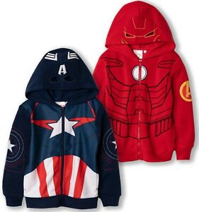 Bambini Ragazzi Ufficiale Marvel Avengers Felpa con Cappuccio Felpa Con Cappuccio Con Cappuccio Maglione Top Zip