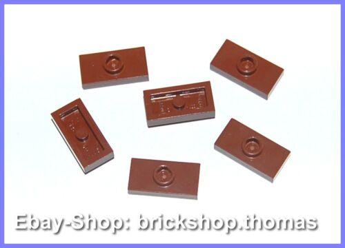 NEW Lego 6 x Konverter Platten braun 3794 Plate 1 x 2 Jumper Reddish Brown NEU