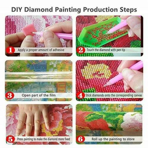 5D Diamant Rose DIY Full Drill Diamond Painting Kreuzstich Malerei Stickpackung