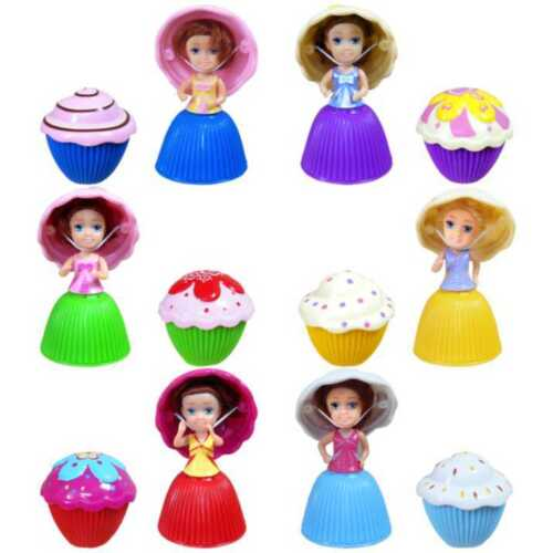 6 x Mini Cupcake Surprise Doll's Collection Party Christmas