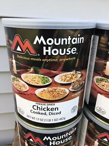 Mountain House Freeze Dried Chicken Cooked Diced 17oz Expires 2038