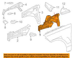 image is loading mercedes-mercedes-benz-oem-ml350-front-fender-apron-