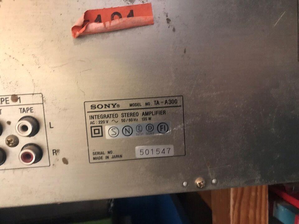 Forstærker, Sony, TA-A300