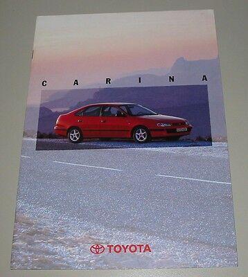 Auto Prospekt Toyota Carina At 190 191 Brochure Stand Juli 1995! Eine VollstäNdige Palette Von Spezifikationen