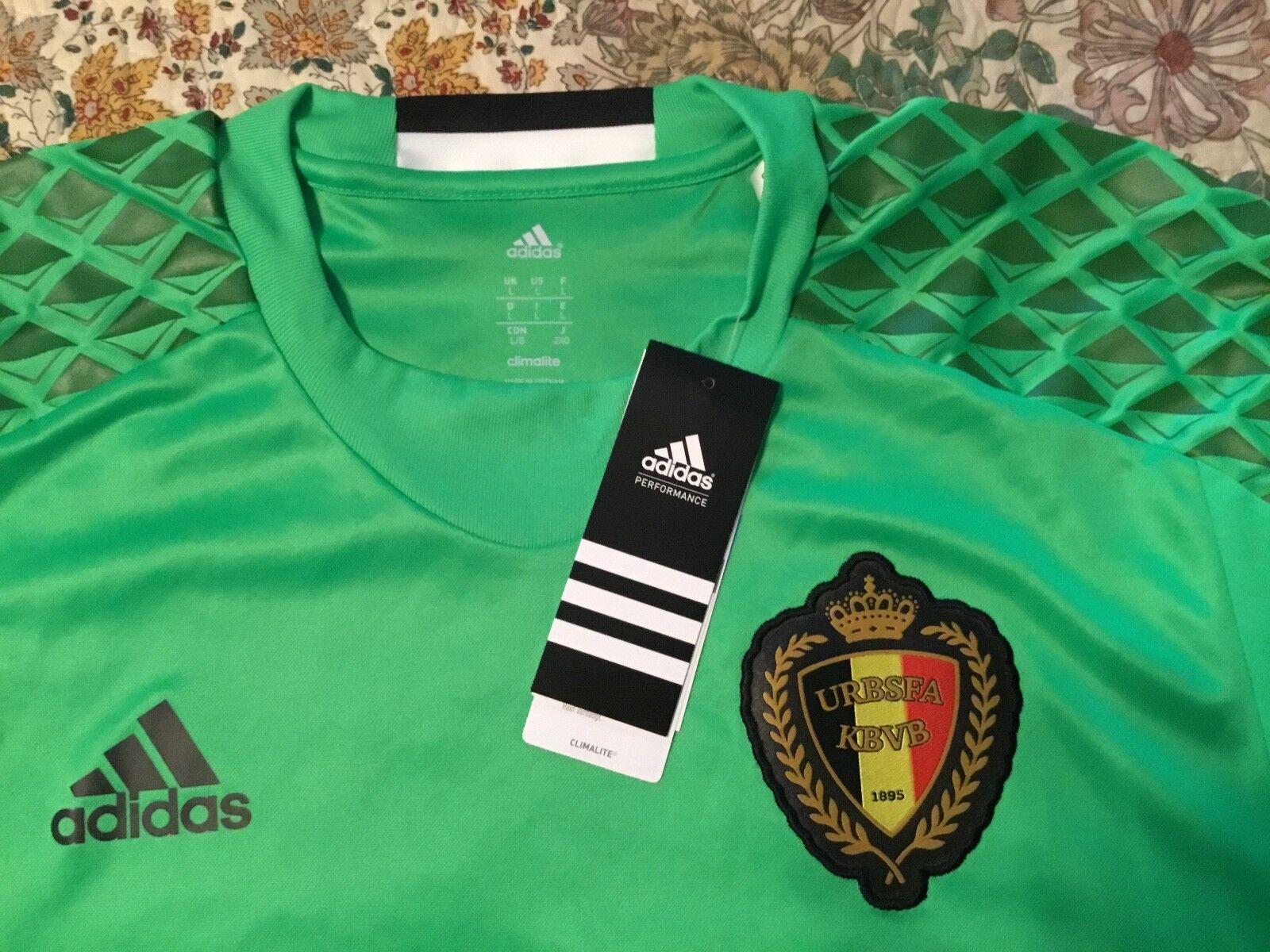 Belgium national soccer team long sleeve goalkeeper  jersey NWT XL,adidas