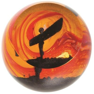 Caithness Glass U18032 Landmarks Golden Sunrise Stonehenge Paperweight