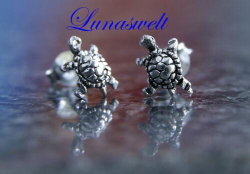 Silberohrstecker Schildkröte