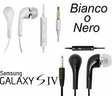 Auricolare + microfono per Samsung Galaxy S4,S3,S2.Cuffie auricolari bianco,nero
