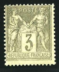 FRANCE-STAMP-TIMBRE-YVERT-N-87-034-TYPE-SAGE-3-c-GRIS-034-NEUF-XX-LUXE