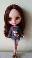 Fox sweater for Blythe, Azone Pure Neemo, Licca, bjd Dolls. Maglia volpe bambole