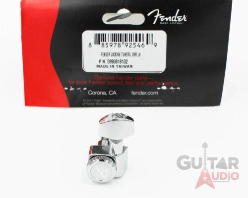CHROME Genuine Fender LEFT-HANDED//LEFTY//REVERSE Locking Strat//Tele Tuners