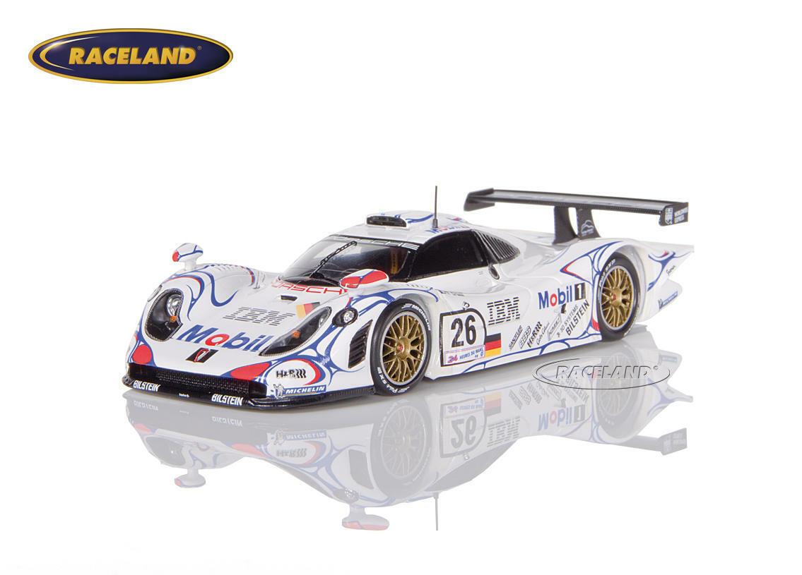 Porsche 911 gt1 mobile 1 vainqueur Le Mans 1998 McNish Aiello Ortelli, SPARK 1 43