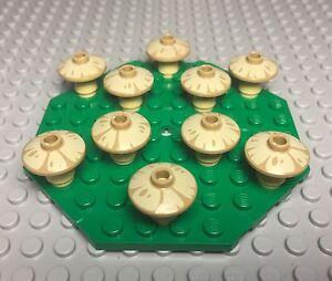Lego X2 Red Dish With Mushroom Pattern Plants Lot Mini Figures Foods