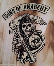 "Oldschool Sticker "" Sons of Anarchy  ""  Bikeraufkleber SOA Skull 1%"